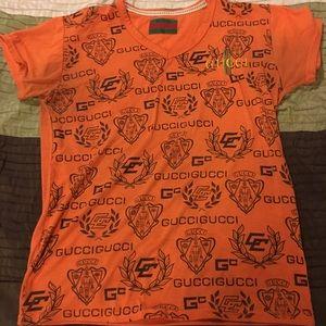 Orange Gucci T-shirt men's